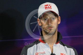 World © Octane Photographic Ltd. F1 Monaco GP FIA Drivers' Press Conference, Monaco, Monte Carlo, Wednesday 25th May 2016. Haas F1 Team – Romain Grosjean. Digital Ref : 1560LB1D4748