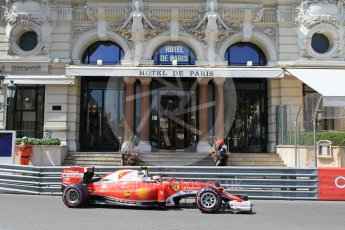 World © Octane Photographic Ltd. Scuderia Ferrari SF16-H – Kimi Raikkonen. Saturday 28th May 2016, F1 Monaco GP Practice 3, Monaco, Monte Carlo. Digital Ref : 1568CB1D7943