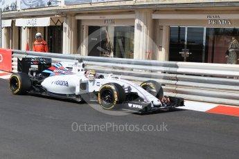 World © Octane Photographic Ltd. Williams Martini Racing, Williams Mercedes FW38 – Felipe Massa. Saturday 28th May 2016, F1 Monaco GP Practice 3, Monaco, Monte Carlo. Digital Ref : 1568CB1D8122