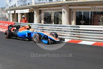 World © Octane Photographic Ltd. Manor Racing MRT05 – Rio Haryanto. Saturday 28th May 2016, F1 Monaco GP Practice 3, Monaco, Monte Carlo. Digital Ref : 1568CB1D8127