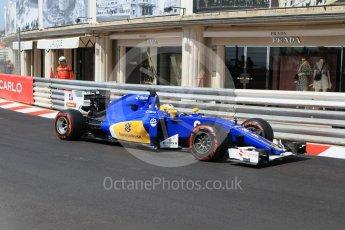 World © Octane Photographic Ltd. Sauber F1 Team C35 – Marcus Ericsson. Saturday 28th May 2016, F1 Monaco GP Practice 3, Monaco, Monte Carlo. Digital Ref : 1568CB1D8131
