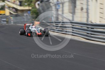 World © Octane Photographic Ltd. Haas F1 Team VF-16 – Romain Grosjean. Saturday 28th May 2016, F1 Monaco GP Practice 3, Monaco, Monte Carlo. Digital Ref : 1568CB1D8161