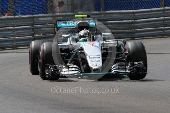 World © Octane Photographic Ltd. Mercedes AMG Petronas W07 Hybrid – Nico Rosberg. Saturday 28th May 2016, F1 Monaco GP Practice 3, Monaco, Monte Carlo. Digital Ref : 1568CB7D1882