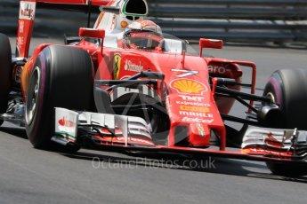 World © Octane Photographic Ltd. Scuderia Ferrari SF16-H – Kimi Raikkonen. Saturday 28th May 2016, F1 Monaco GP Practice 3, Monaco, Monte Carlo. Digital Ref : 1568CB7D1883