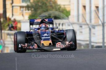 World © Octane Photographic Ltd. Scuderia Toro Rosso STR11 – Daniil Kvyat. Saturday 28th May 2016, F1 Monaco GP Practice 3, Monaco, Monte Carlo. Digital Ref : 1568CB7D1910