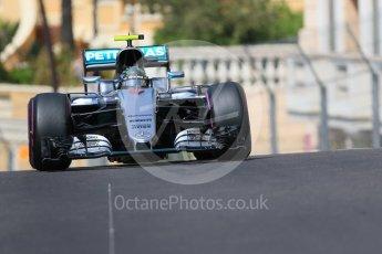 World © Octane Photographic Ltd. Mercedes AMG Petronas W07 Hybrid – Nico Rosberg. Saturday 28th May 2016, F1 Monaco GP Practice 3, Monaco, Monte Carlo. Digital Ref : 1568CB7D1916