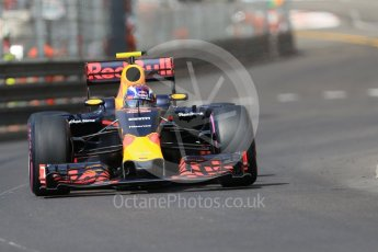 World © Octane Photographic Ltd. Red Bull Racing RB12 – Max Verstappen. Saturday 28th May 2016, F1 Monaco GP Practice 3, Monaco, Monte Carlo. Digital Ref : 1568CB7D1956