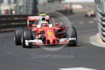 World © Octane Photographic Ltd. Scuderia Ferrari SF16-H – Kimi Raikkonen. Saturday 28th May 2016, F1 Monaco GP Practice 3, Monaco, Monte Carlo. Digital Ref : 1568CB7D1980