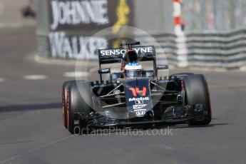 World © Octane Photographic Ltd. McLaren Honda MP4-31 – Fernando Alonso. Saturday 28th May 2016, F1 Monaco GP Practice 3, Monaco, Monte Carlo. Digital Ref : 1568CB7D2023
