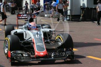 World © Octane Photographic Ltd. Haas F1 Team VF-16 – Romain Grosjean. Saturday 28th May 2016, F1 Monaco GP Practice 3, Monaco, Monte Carlo. Digital Ref : 1568LB1D9407