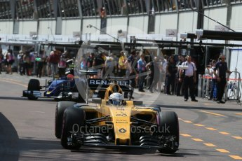 World © Octane Photographic Ltd. Renault Sport F1 Team RS16 - Kevin Magnussen. Saturday 28th May 2016, F1 Monaco GP Practice 3, Monaco, Monte Carlo. Digital Ref : 1568LB1D9418