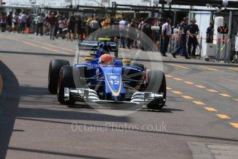 World © Octane Photographic Ltd. Sauber F1 Team C35 – Felipe Nasr. Saturday 28th May 2016, F1 Monaco GP Practice 3, Monaco, Monte Carlo. Digital Ref : 1568LB1D9429