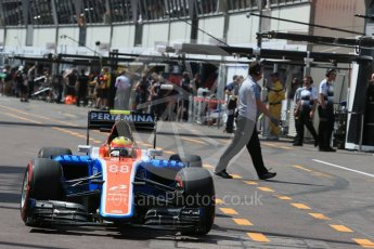 World © Octane Photographic Ltd. Manor Racing MRT05 – Rio Haryanto. Saturday 28th May 2016, F1 Monaco GP Practice 3, Monaco, Monte Carlo. Digital Ref : 1568LB1D9458