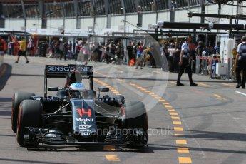 World © Octane Photographic Ltd. McLaren Honda MP4-31 – Fernando Alonso. Saturday 28th May 2016, F1 Monaco GP Practice 3, Monaco, Monte Carlo. Digital Ref : 1568LB1D9493
