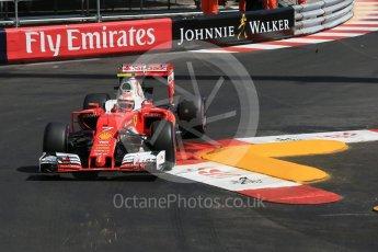 World © Octane Photographic Ltd. Scuderia Ferrari SF16-H – Kimi Raikkonen. Saturday 28th May 2016, F1 Monaco GP Practice 3, Monaco, Monte Carlo. Digital Ref : 1568LB1D9554
