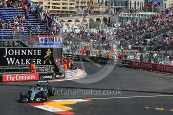 World © Octane Photographic Ltd. Mercedes AMG Petronas W07 Hybrid – Nico Rosberg. Saturday 28th May 2016, F1 Monaco GP Practice 3, Monaco, Monte Carlo. Digital Ref : 1568LB1D9564