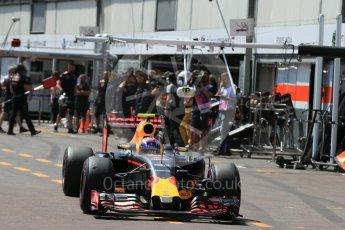 World © Octane Photographic Ltd. Red Bull Racing RB12 – Max Verstappen. Saturday 28th May 2016, F1 Monaco GP Practice 3, Monaco, Monte Carlo. Digital Ref : 1568LB1D9632