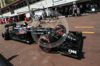World © Octane Photographic Ltd. McLaren Honda MP4-31 – Jenson Button. Saturday 28th May 2016, F1 Monaco GP Practice 3, Monaco, Monte Carlo. Digital Ref : 1568LB5D8114