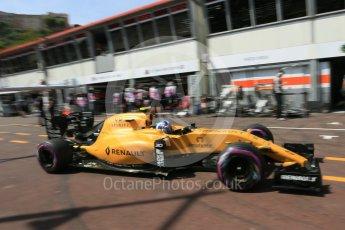 World © Octane Photographic Ltd. Renault Sport F1 Team RS16 – Jolyon Palmer. Saturday 28th May 2016, F1 Monaco GP Practice 3, Monaco, Monte Carlo. Digital Ref : 1568LB5D8138