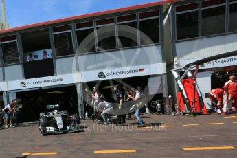 World © Octane Photographic Ltd. Mercedes AMG Petronas W07 Hybrid – Lewis Hamilton. Saturday 28th May 2016, F1 Monaco GP Practice 3, Monaco, Monte Carlo. Digital Ref : 1568LB5D8218