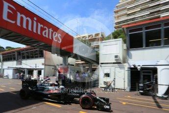 World © Octane Photographic Ltd. McLaren Honda MP4-31 – Fernando Alonso. Saturday 28th May 2016, F1 Monaco GP Practice 3, Monaco, Monte Carlo. Digital Ref : 1568LB5D8280