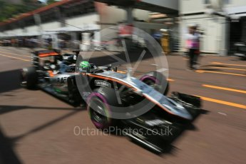 World © Octane Photographic Ltd. Sahara Force India VJM09 - Nico Hulkenberg. Saturday 28th May 2016, F1 Monaco GP Practice 3, Monaco, Monte Carlo. Digital Ref : 1568LB5D8296