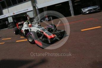 World © Octane Photographic Ltd. Haas F1 Team VF-16 - Esteban Gutierrez. Saturday 28th May 2016, F1 Monaco GP Practice 3, Monaco, Monte Carlo. Digital Ref : 1568LB5D8321