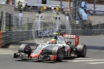 World © Octane Photographic Ltd. Haas F1 Team VF-16 - Esteban Gutierrez. Saturday 28th May 2016, F1 Monaco GP Qualifying, Monaco, Monte Carlo. Digital Ref : 1569CB1D8195