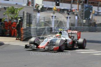 World © Octane Photographic Ltd. Haas F1 Team VF-16 - Esteban Gutierrez. Saturday 28th May 2016, F1 Monaco GP Qualifying, Monaco, Monte Carlo. Digital Ref : 1569CB1D8240