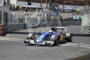 World © Octane Photographic Ltd. Sauber F1 Team C35 – Marcus Ericsson. Saturday 28th May 2016, F1 Monaco GP Qualifying, Monaco, Monte Carlo. Digital Ref :