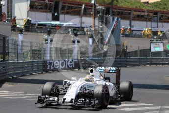 World © Octane Photographic Ltd. Williams Martini Racing, Williams Mercedes FW38 – Felipe Massa. Saturday 28th May 2016, F1 Monaco GP Qualifying, Monaco, Monte Carlo. Digital Ref :
