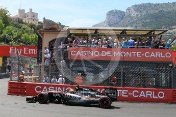 World © Octane Photographic Ltd. Sahara Force India VJM09 - Sergio Perez. Saturday 28th May 2016, F1 Monaco GP Qualifying, Monaco, Monte Carlo. Digital Ref :