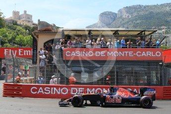 World © Octane Photographic Ltd. Scuderia Toro Rosso STR11 – Carlos Sainz. Saturday 28th May 2016, F1 Monaco GP Qualifying, Monaco, Monte Carlo. Digital Ref : 1569CB7D2269