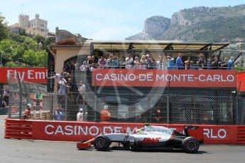 World © Octane Photographic Ltd. Haas F1 Team VF-16 - Esteban Gutierrez. Saturday 28th May 2016, F1 Monaco GP Qualifying, Monaco, Monte Carlo. Digital Ref : 1569CB7D2271