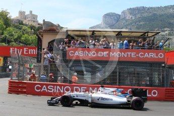 World © Octane Photographic Ltd. Williams Martini Racing, Williams Mercedes FW38 – Felipe Massa. Saturday 28th May 2016, F1 Monaco GP Qualifying, Monaco, Monte Carlo. Digital Ref : 1569CB7D2290