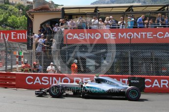 World © Octane Photographic Ltd. Mercedes AMG Petronas W07 Hybrid – Nico Rosberg. Saturday 28th May 2016, F1 Monaco GP Qualifying, Monaco, Monte Carlo. Digital Ref : 1569CB7D2312