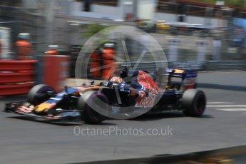 World © Octane Photographic Ltd. Scuderia Toro Rosso STR11 – Daniil Kvyat. Saturday 28th May 2016, F1 Monaco GP Qualifying, Monaco, Monte Carlo. Digital Ref : 1569CB7D2337