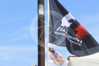 World © Octane Photographic Ltd. F1 and ACM (Automobile Club de Monaco) flags. Saturday 28th May 2016, F1 Monaco GP Qualifying, Monaco, Monte Carlo. Digital Ref :