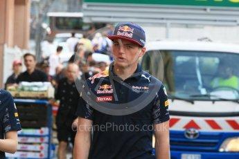 World © Octane Photographic Ltd. Red Bull Racing RB12 – Max Verstappen. Wednesday 25th May 2016, F1 Monaco GP Paddock, Monaco, Monte Carlo. Digital Ref :1559CB7D0035