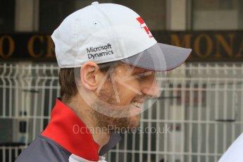 World © Octane Photographic Ltd. Haas F1 Team VF-16 – Romain Grosjean. Wednesday 25th May 2016, F1 Monaco GP Paddock, Monaco, Monte Carlo. Digital Ref :1559CB7D0141