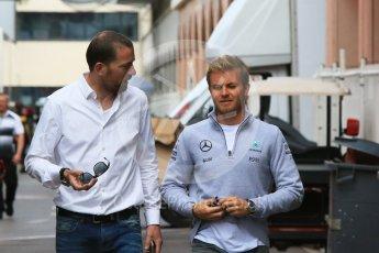 World © Octane Photographic Ltd. Mercedes AMG Petronas W07 Hybrid – Nico Rosberg. Wednesday 25th May 2016, F1 Monaco GP Paddock, Monaco, Monte Carlo. Digital Ref :1559CB7D0167
