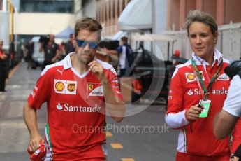 World © Octane Photographic Ltd. Scuderia Ferrari SF16-H – Sebastian Vettel. Wednesday 25th May 2016, F1 Monaco GP Paddock, Monaco, Monte Carlo. Digital Ref :1559CB7D0208