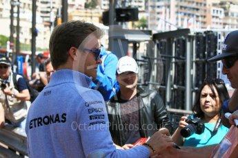 World © Octane Photographic Ltd. Mercedes AMG Petronas W07 Hybrid – Nico Rosberg. Wednesday 25th May 2016, F1 Monaco GP Paddock, Monaco, Monte Carlo. Digital Ref :1559CB7D9790