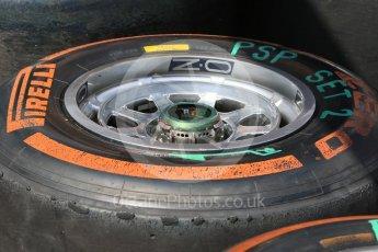 World © Octane Photographic Ltd. Red Bull Racing RB12 – Front Wheel. Wednesday 25th May 2016, F1 Monaco GP Paddock, Monaco, Monte Carlo. Digital Ref :1559CB7D9845