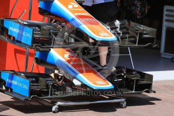 World © Octane Photographic Ltd. Manor Racing MRT05 - noses. Wednesday 25th May 2016, F1 Monaco GP Paddock, Monaco, Monte Carlo. Digital Ref :1559CB7D9930