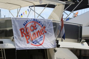 World © Octane Photographic Ltd. Bleekemolens Race Planet Flag. Wednesday 25th May 2016, F1 Monaco GP Paddock, Monaco, Monte Carlo. Digital Ref :1559CB7D9979