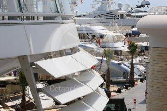 World © Octane Photographic Ltd. Yachts in the harbour. Wednesday 25th May 2016, F1 Monaco GP Paddock, Monaco, Monte Carlo. Digital Ref :1559CB7D9983