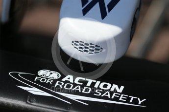 World © Octane Photographic Ltd. Williams Martini Racing, Williams Mercedes FW38 – nose intake. Wednesday 25th May 2016, F1 Monaco GP Paddock, Monaco, Monte Carlo. Digital Ref :1559LB1D4200
