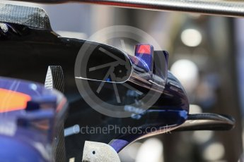 World © Octane Photographic Ltd. Scuderia Toro Rosso STR11 – inside sidepod front. Wednesday 25th May 2016, F1 Monaco GP Paddock, Monaco, Monte Carlo. Digital Ref :1559LB1D4295
