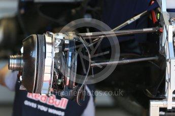 World © Octane Photographic Ltd. Scuderia Toro Rosso STR11 – front brakes. Wednesday 25th May 2016, F1 Monaco GP Paddock, Monaco, Monte Carlo. Digital Ref :1559LB1D4328